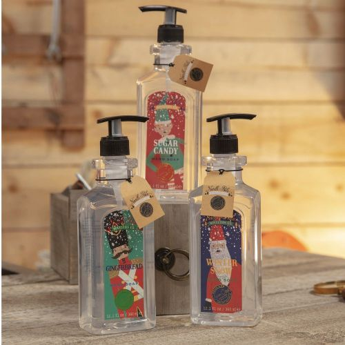 Christmas Fragranced Hand Soap in Festive Dispenser Gift